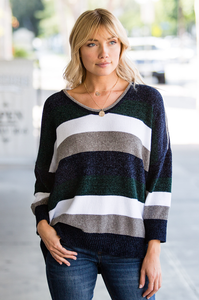 Ali Color Block Sweater - Amaryllis Land