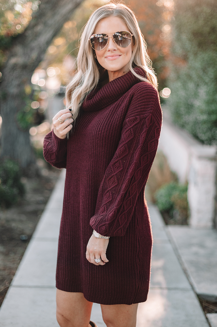 Swipe Up Sweater Dress