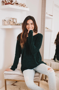 In the Loop Chenille Sweater - Amaryllis Land