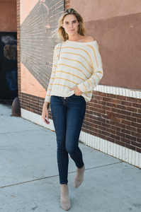 Delia Striped Sweater - Amaryllis Land