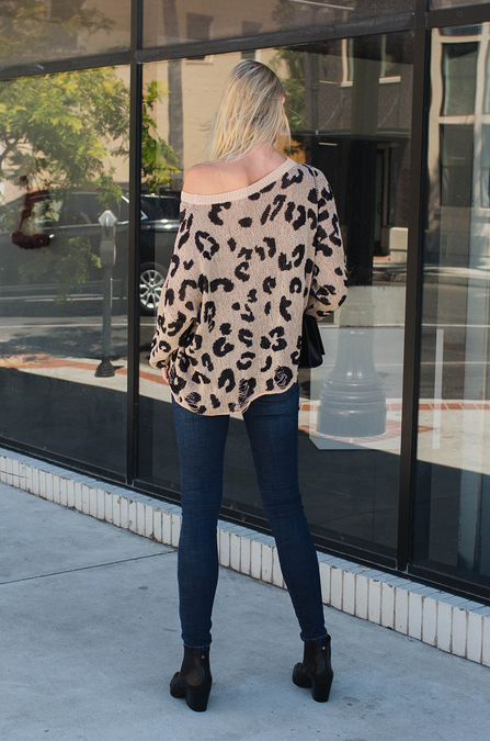 Distressed Leopard Sweater - Amaryllis Land