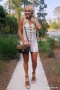 Emma Striped Romper