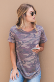 Crew-neck Relaxed Hi-Low Tee