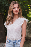 Vineyard Eyelet Top - Amaryllis Land