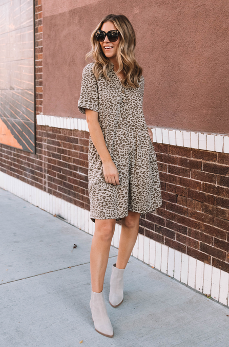Lennie Leopard Tunic Dress - Amaryllis Land