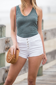Getaway High-Waisted Shorts - Amaryllis Land