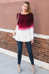 Merlot Ombre Sweater - Amaryllis Land