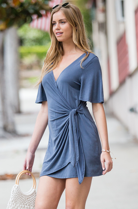Aly Wrap Dress - Amaryllis Land