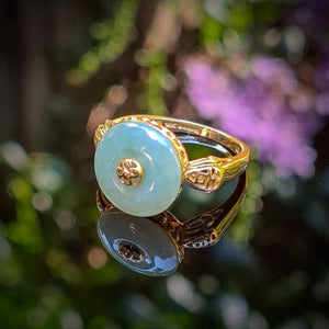 Vintage Spinning Jade Ring