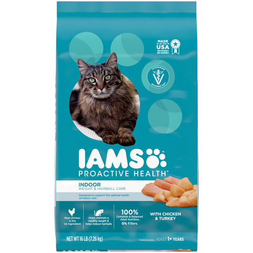 Iams Proactive Health Indoor Weight and Hairball Care Dry Cat Food