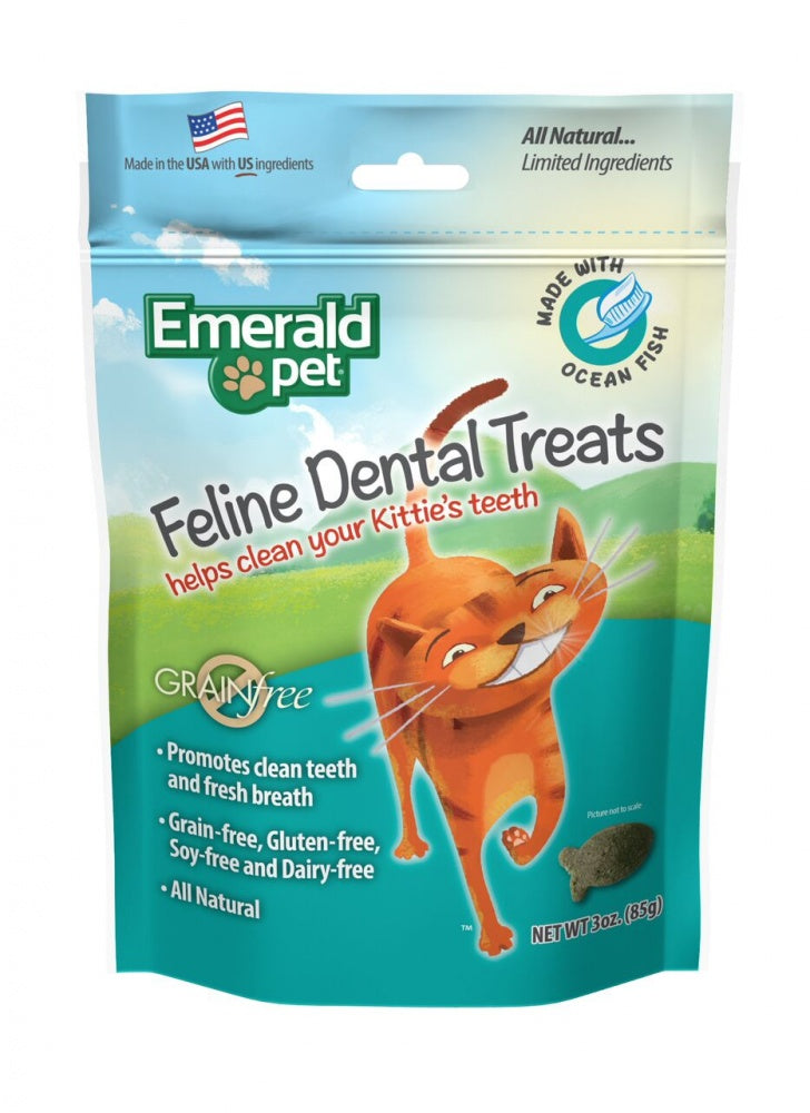 Emerald Pet Dental Treats Ocean Fish Flavor for Cats