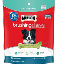 Load image into Gallery viewer, Milk-Bone Fresh Breath Daily Dental Brushing Chews for Small & Medium Dogs