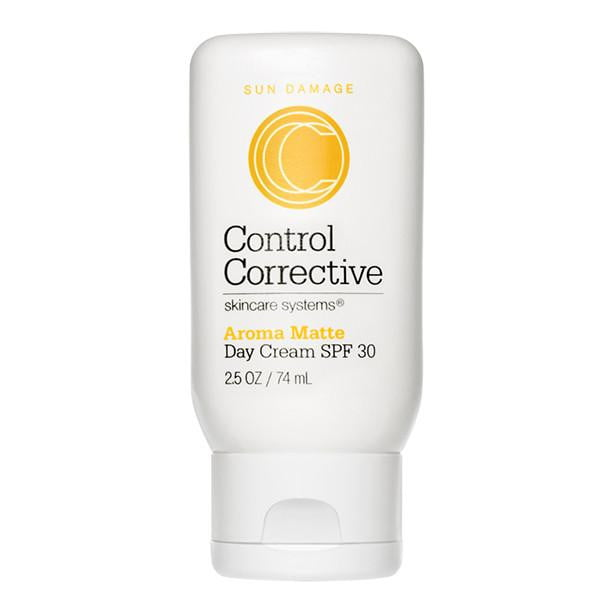 SPF 30 Control Corrective Aroma Matte Sunscreen in a bottle