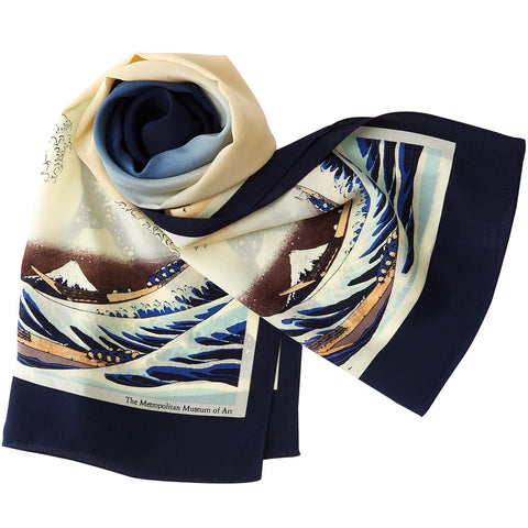 The Great Wave silk scarf