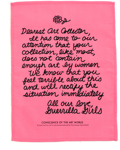 Dear Art Collector handkerchief by the Guerrilla Girls