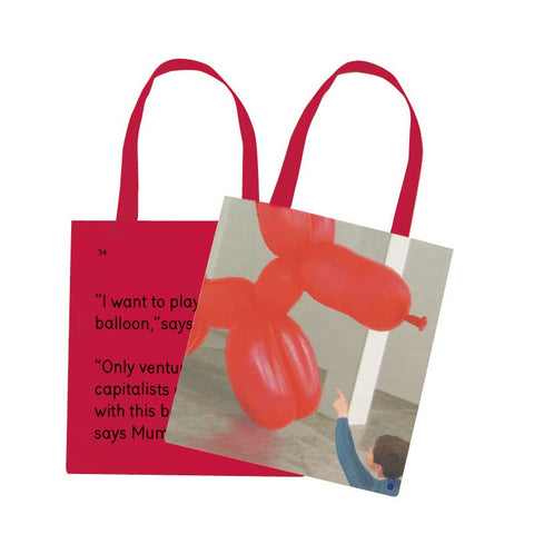 The Balloon Dog Tote Bag - We Go To The Gallery