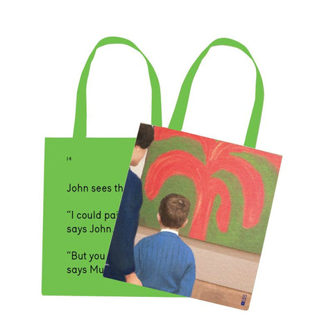 John Sees The Painting Tote Bag - We Go To The Gallery