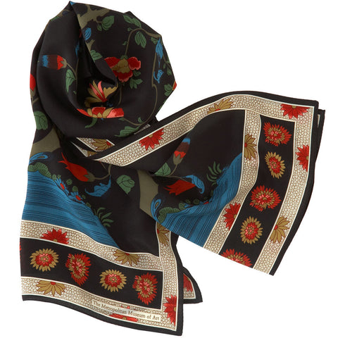 Qing Tree silk scarf