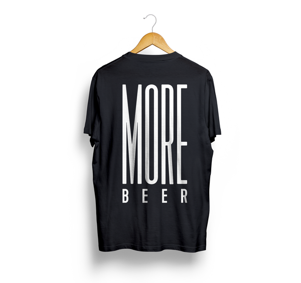 T-shirt Altotevere MORE BEER (Nera)