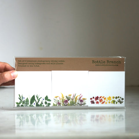 Seasons sticky notes