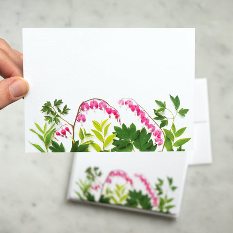 Flat card set - Bleeding Hearts Flowers