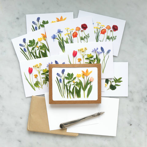 Colorful spring card set