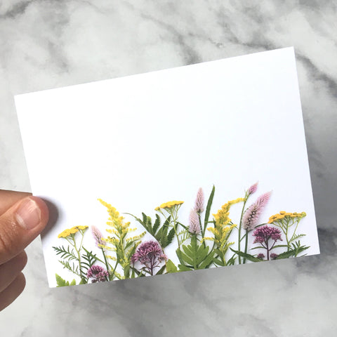 Flat Card set - Wildflowers of summer