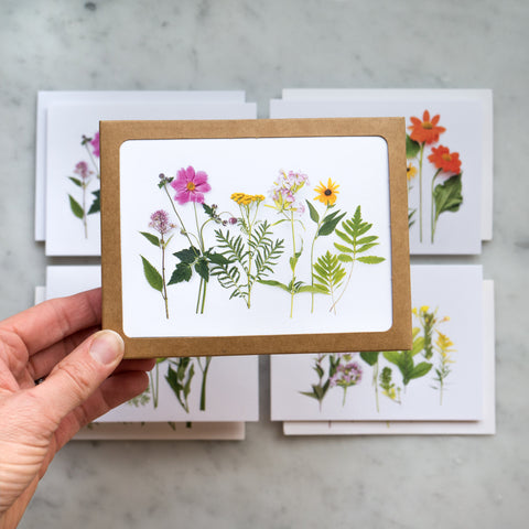 Card Set - Garden and wildflowers of summer