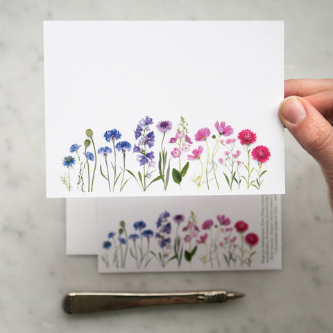 Flat card set - Summer Flower Rainbow