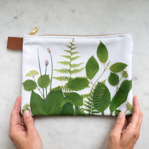 Botanical Bag ~ Greenery on white