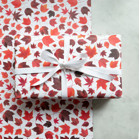Gift wrap ~ red maple