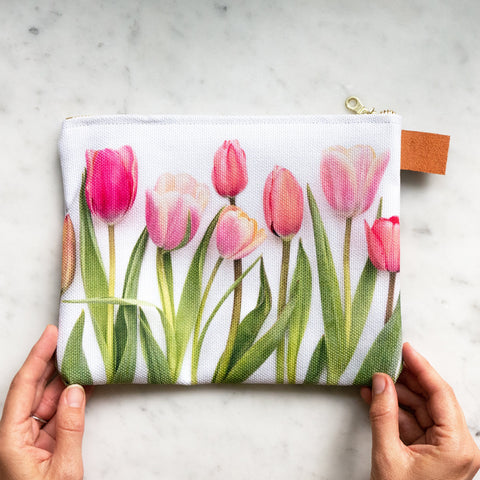 Botanical Bag ~ Pink Tulips