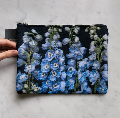 Botanical Bag ~ Blue Larkspur