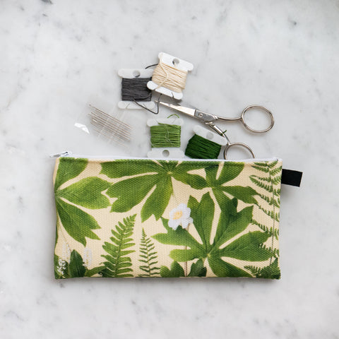 Botanical Bag ~ Zipper carry all ~ pouch ~ pencil case ~ make up case