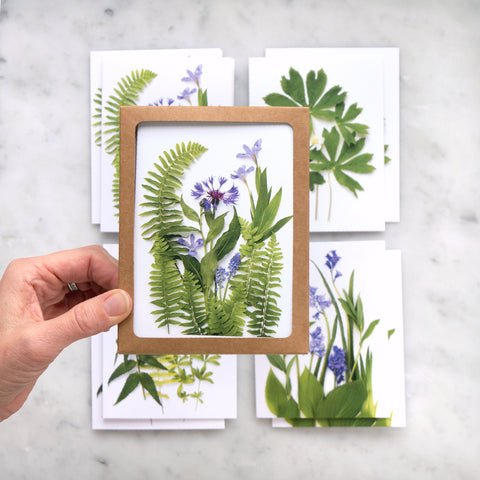 Spring greenery card set