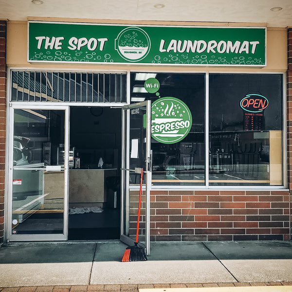 The Spot Laundromat storefront in downtown Squamish