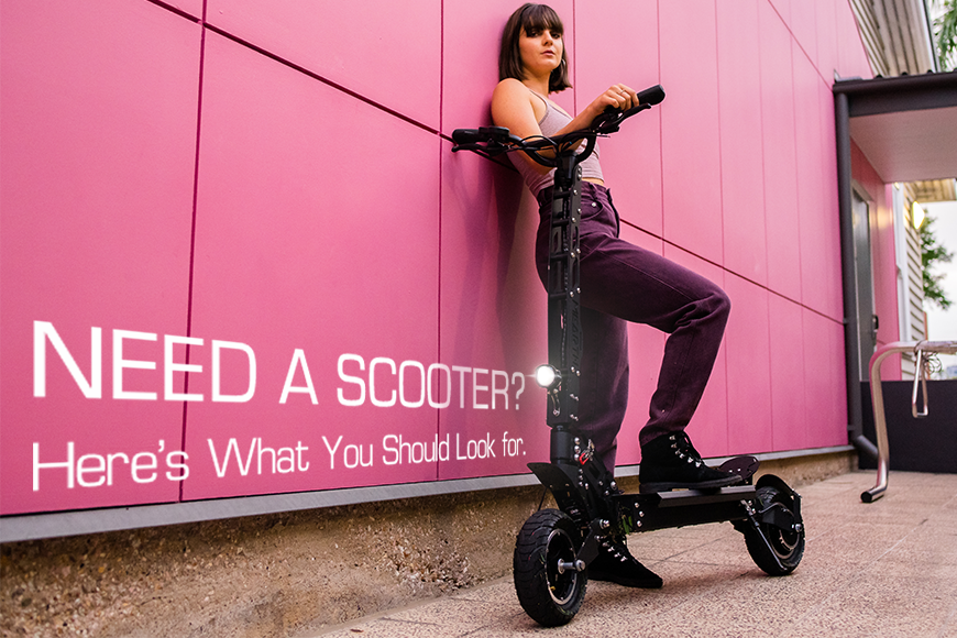 Image of a woman with a GTS electric scooter