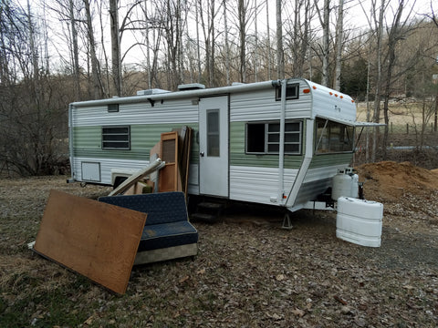 beve's Vintage Camper Studio: Demolition Part I