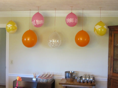 A Baby Shower In Pink Orange And Yellow Beve
