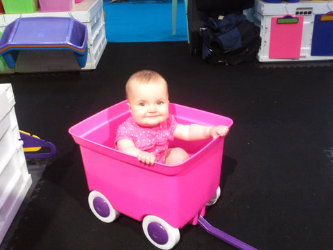 Our daughter, Lennox, at 9 months at the 2014 National Stationery Show