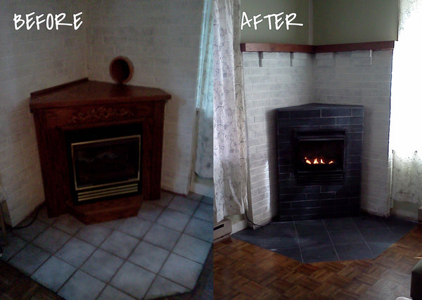 beve! design renovation project fireplace