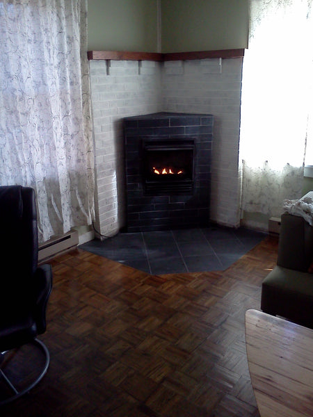 beve! design renovation project fireplace black sheldon slate fireplace surround 3x12 and 12x12