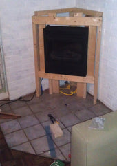 beve! design renovation project fireplace surround frame