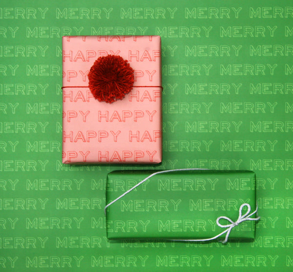 happy happy merry merry gift wrap by beve