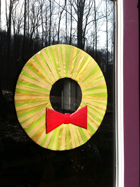 washi tape wreath for door