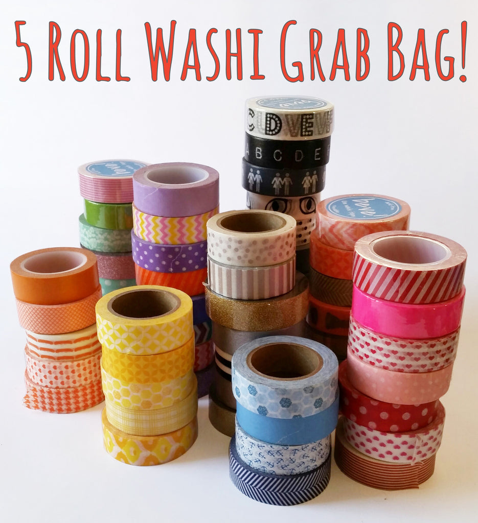 Washi Tape Grab Bag, 5 Rolls