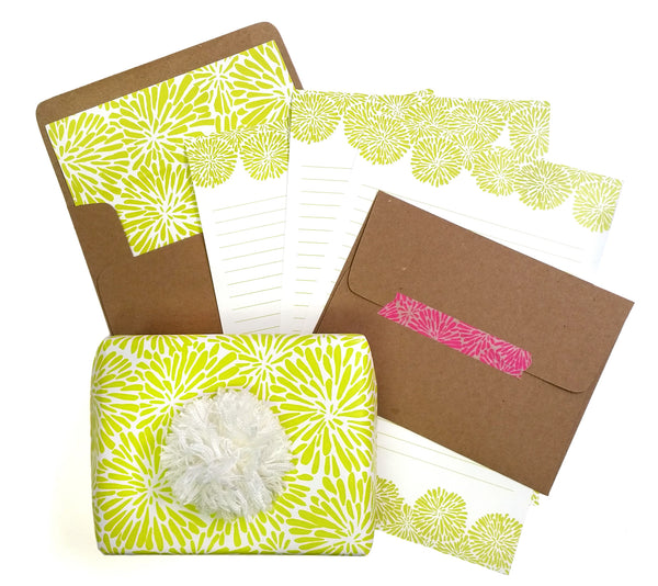 Acid Green Mum Letter Writing Set