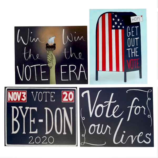 Win The Era Postcard Sets - 2020 Get Out The Vote Set - 25% Donation to Win The Era - Free Shipping