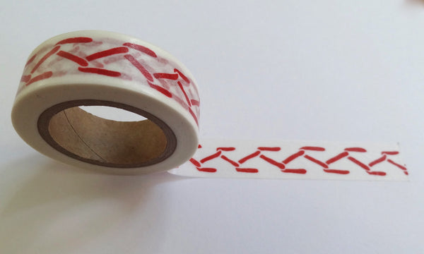 beve designed red feather stitch washi tape for scrapbook tape edging.