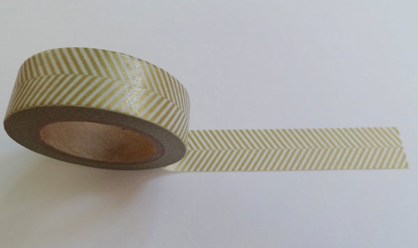 Gold chevron herringbone washi tape.